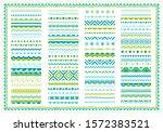 border  ribbon  divider set....   Shutterstock .eps vector #1572383521