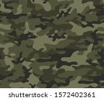 camouflage pattern for hunting.... | Shutterstock .eps vector #1572402361