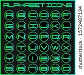 vector alphabet icons letter set   Shutterstock .eps vector #1572407134