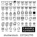 icon set of laundry symbols ...