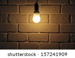 Light Bulb Turn On In Room Wit...