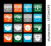 boxes icons | Shutterstock .eps vector #157244195