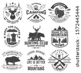 set of hunting club and outdoor ... | Shutterstock .eps vector #1572445444