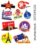 country symbol  icon collection ... | Shutterstock . vector #157245131