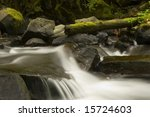 This is Upper Multonah Falls Long Exposure - stock photo
