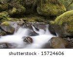 This is Upper Multnomah Falls Long Exposure - stock photo