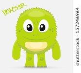 cute green monster | Shutterstock .eps vector #157246964