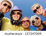 group of young and happy people ... | Shutterstock . vector #157247009