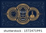 antique label for whiskey or... | Shutterstock .eps vector #1572471991