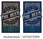 vintage beer label for packing | Shutterstock .eps vector #1572471994
