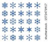 Vector Snowflakes Set. Snow...