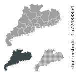 outline map of guangzhou state   Shutterstock .eps vector #1572488854