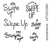 swipe up icon set isolated on...