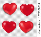 red hearts set isolated... | Shutterstock .eps vector #1572530014