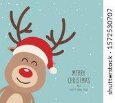 reindeer red nosed cute cartoon ...   Shutterstock .eps vector #1572530707