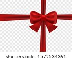 beautiful red holiday ribbon... | Shutterstock .eps vector #1572534361