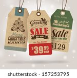 christmas sale tags | Shutterstock .eps vector #157253795