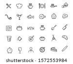 set of linear restaurant icons. ... | Shutterstock .eps vector #1572553984