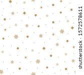 golden snowflakes and stars on... | Shutterstock .eps vector #1572578611