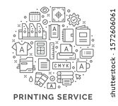 printing service design. vector ...   Shutterstock .eps vector #1572606061