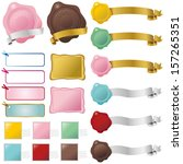 label  ribbon | Shutterstock .eps vector #157265351