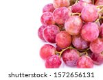 red grape. white background.... | Shutterstock . vector #1572656131
