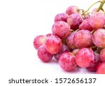 red grape. white background.... | Shutterstock . vector #1572656137