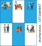 business and work  boss and...   Shutterstock . vector #1572684847