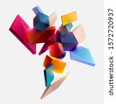 multicolored cubes on white... | Shutterstock .eps vector #1572720937