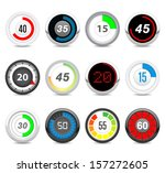 timers set  twelve different... | Shutterstock .eps vector #157272605