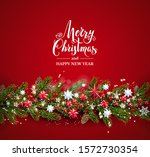 bright greeting christmas... | Shutterstock .eps vector #1572730354