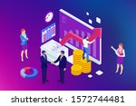 isometric business to business... | Shutterstock .eps vector #1572744481