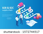 isometric business to business... | Shutterstock .eps vector #1572744517
