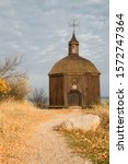 A Small Wooden Church. The Pat...