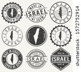israel set of stamps. travel...   Shutterstock .eps vector #1572752914