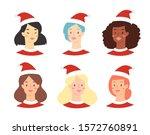 cartoon christmas avatar set of ...   Shutterstock .eps vector #1572760891