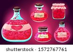 potion bottles collection.... | Shutterstock .eps vector #1572767761