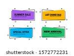 set of modern flat geometric...   Shutterstock .eps vector #1572772231