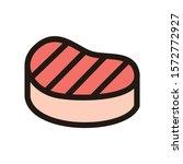 steak icon isolated on white...   Shutterstock .eps vector #1572772927