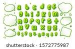 comics font  kid's alphabet in... | Shutterstock .eps vector #1572775987