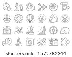startup line icons. launch... | Shutterstock .eps vector #1572782344