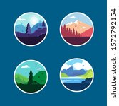 flat landscape patch set.... | Shutterstock .eps vector #1572792154