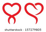 red heart shape | Shutterstock .eps vector #157279805