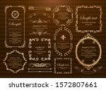 royal monogram frame. hand... | Shutterstock .eps vector #1572807661
