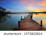 A Photo Of A Pier At A Large...