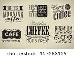 retro  typography  coffee shop  ... | Shutterstock .eps vector #157283129