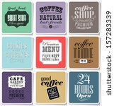 retro colored bakery labels and ... | Shutterstock .eps vector #157283339