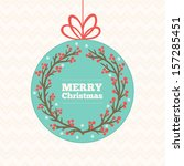 greeting card with christmas... | Shutterstock .eps vector #157285451