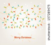 christmas card with garland | Shutterstock .eps vector #157285475