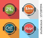 call center   customer service  ... | Shutterstock .eps vector #157289594